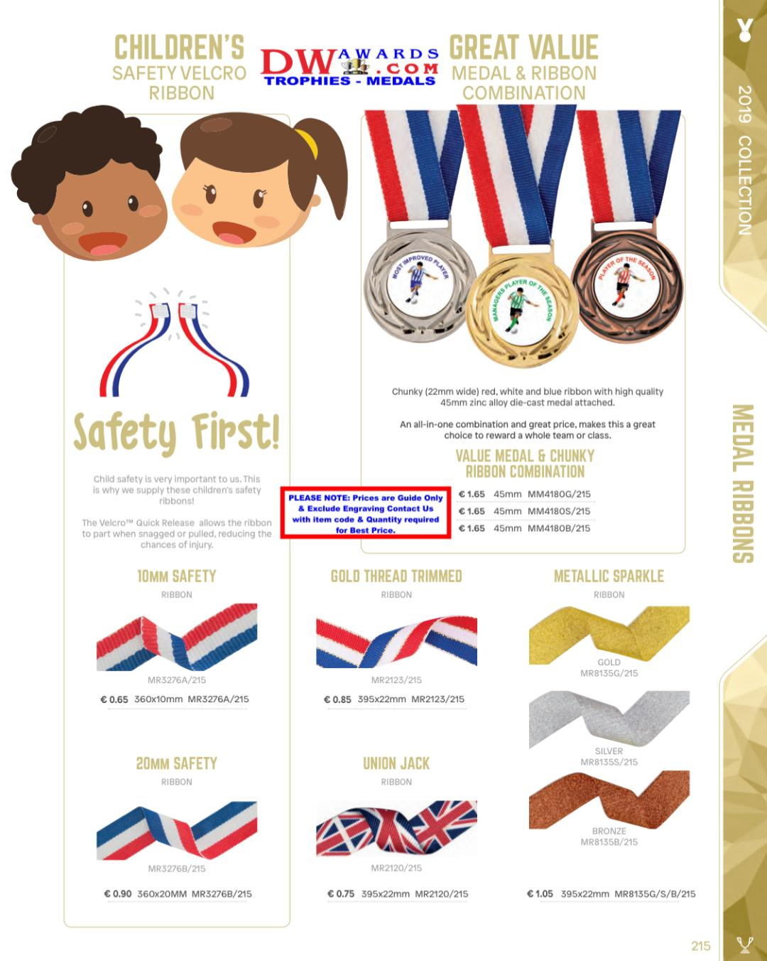 DW Awards Medal Ribbons - Trophies-Medals ie