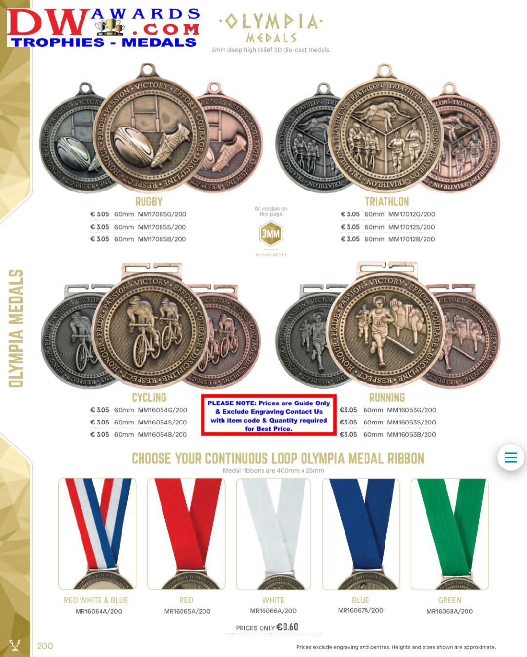 DW Awards Ireland - Multi Sport Medals - Bespoke Custom